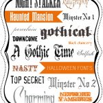 16 FREE {and spooky} Halloween Fonts!